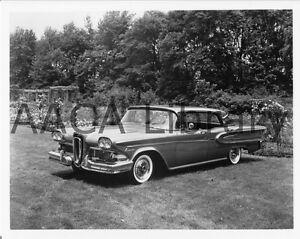 1958 ford edsel citation four door hardtop factory photo. Black Bedroom Furniture Sets. Home Design Ideas