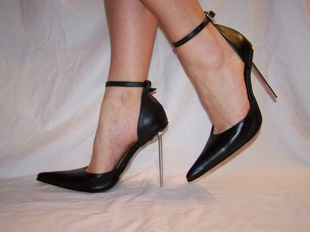 """BLACK OR RED 100% LEATHER PUMPS SIZE 5-16 HEELS-5,5""""-  POLAND PRODUCER FS658"""