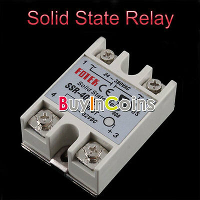 Durable Control Solid State Relay SSR-40DA 40A 24-380V AC Module Fast Switching