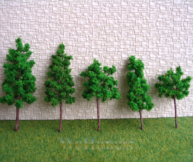 110 pcs Assorted Green Model Trees for N HO scale scene