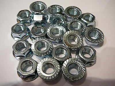 m8 serrated flanged nuts zink plated great for bikes garden or home jobs 20 pack