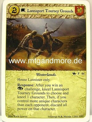A Game of Thrones LCG - 1x Lannisport Tourney Grounds #044  On Dangerous Grounds