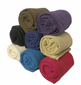 LARGE-Fleece-Sofa-Bed-Throw-or-Blanket-in-9-Colours-amp-3-Large-Sizes