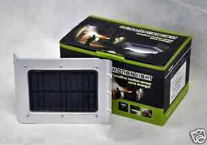 Cinch-Power-CP-10P-W-16-LED-Solar-Power-Motion-Lamp-Outdoor-Wall-Light-Silver