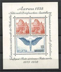 SWITZERLAND-AARAU-SHEETLET-1948-VF-MINT-NEVER-HINGED