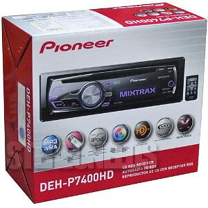NEW PIONEER DEH-P7400HD CAR CD/MP3/WMA/iPOD PLAYER RECEIVER USB AUX IN HD RADIO