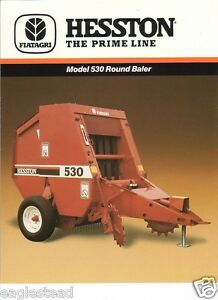 Farm-Implement-Brochure-Hesston-530-Round-Baler-1987-FB279