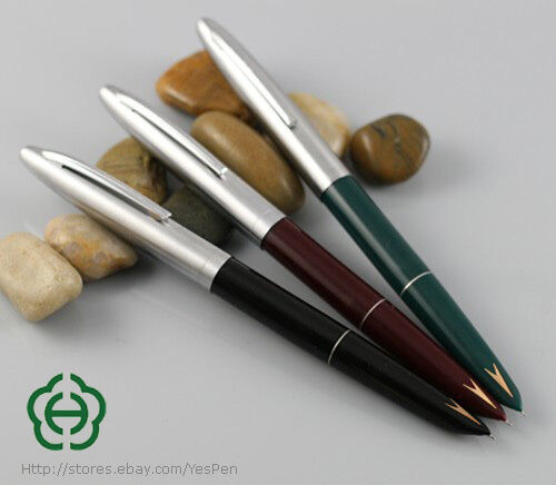 Early HERO 329-2 Fountain Pen Favorite Of The Arrow Vintage Pens Green & Red Set