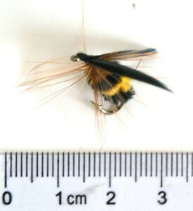 20-PCS-Foam-bee-Trout-Flies-Fishing-Fly-DRY-Wet-HOOK-Size-12-Free-Boxed-Set