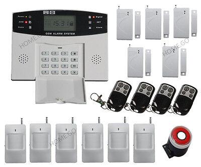 GSM SMS Home Burglar Security Alarm System Detector Sensor Kit Remote Control