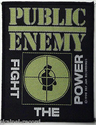 PUBLIC ENEMY Fight The Power RARE Vtg 1990 Woven Sew On Patch
