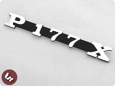 VESPA PX/LML Polini Kit Billet CNC Legshield/Side Panel Badge/Emblem P177 X 177