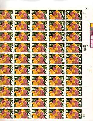 LOVE Roses Sheet of 50 x 45 Cent US Postage Stamps NEW Scot 2379