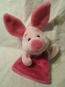 "10"" Mattel Walt Disney Piglet Hand Puppet Plush Soft Toy Stuffed Animal"
