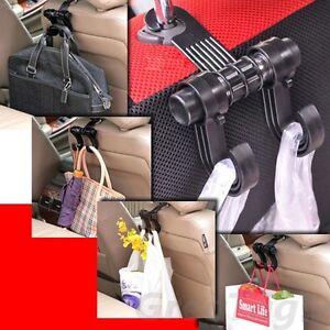 UNIVERSAL-CAR-TRUCK-SUV-SEAT-BACK-HANGER-ORGANIZER-HOOK-HEADREST-HOLDER-BLACK