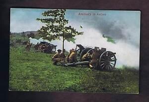 Artillery-in-Action-H-H-Stratton-Chattanooga-TN-WW-I-Era-Postcard-c1910