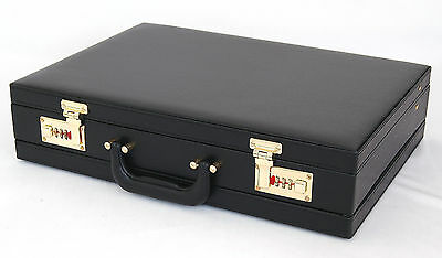 New Hard Case Attache Briefcase Expandable Portfolio Bag with Combination Locks