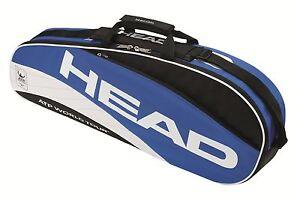 HEAD-ATP-PRO-3-PACK-triple-tennis-racquet-racket-bag-Auth-Dealer-blue
