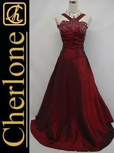 Cherlone-Plus-Size-Satin-Burgundy-Long-Ball-Gown-Wedding-Evening-Dress-UK-24-26
