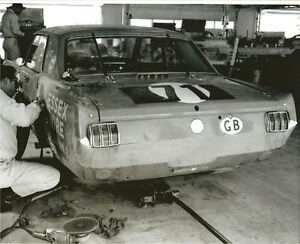 Vintage-8-X-10-Auto-Racing-Photo-1965-Daytona-Essex-Wire-Mustang