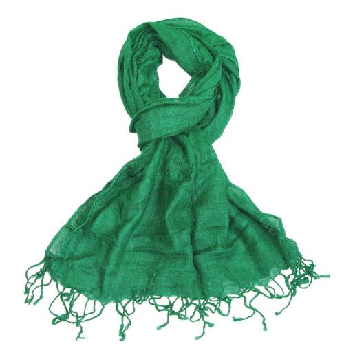 Écharpe douce femme coloré châle Wrap Mesdames plaine de belles couleurs lumineuses nouveau