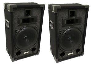 2-VM-Audio-VAS310P-1200-Watt-3-Way-10-034-DJ-Passive-Loud-Speaker-System-NEW