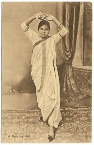 India 1910s A Dancing Girl postcard