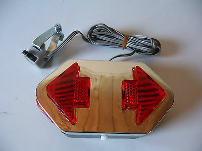 NEW BICYCLE DIRECTIONAL TURNING SIGNAL LIGHT RED BEACH CRUISER LOWRIDER CYCLING