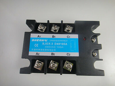 Three Phase 3 Phase DC AC Solid State Relay SSR-100A 100A