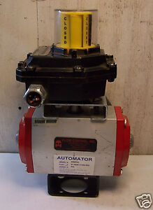 AUTOMATOR-SRB092-PNEUMATIC-VALVE-ACTUATOR-WITH-SENTINEL-POSITIONER-AMYB-5120