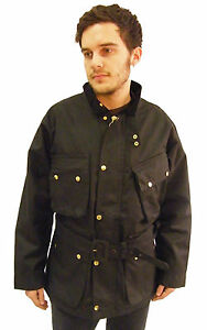 Campbell-Cooper-Brand-New-English-Wax-Cotton-Classic-Motorcycle-Jacket-Black