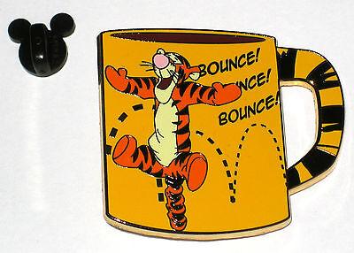 New LE Disney Pin Tigger BIG Coffee Cup Mug 100 Acre Wood Tea Winnie the Pooh LE