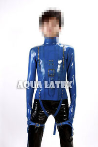 1mm Bondage Rubber Latex Straight Jacket Men Sexy Heavy Mitted ...