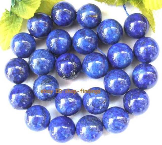 "Lapis Lazuli Round Gemstone Beads 16"" 2mm 4mm 6mm 8mm 10mm 12mm 14mm 16mm 18mm"