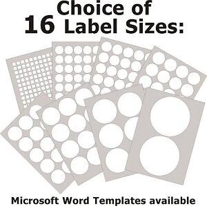 Round matt white paper labels laser copier inkjet printer for Circle printer labels