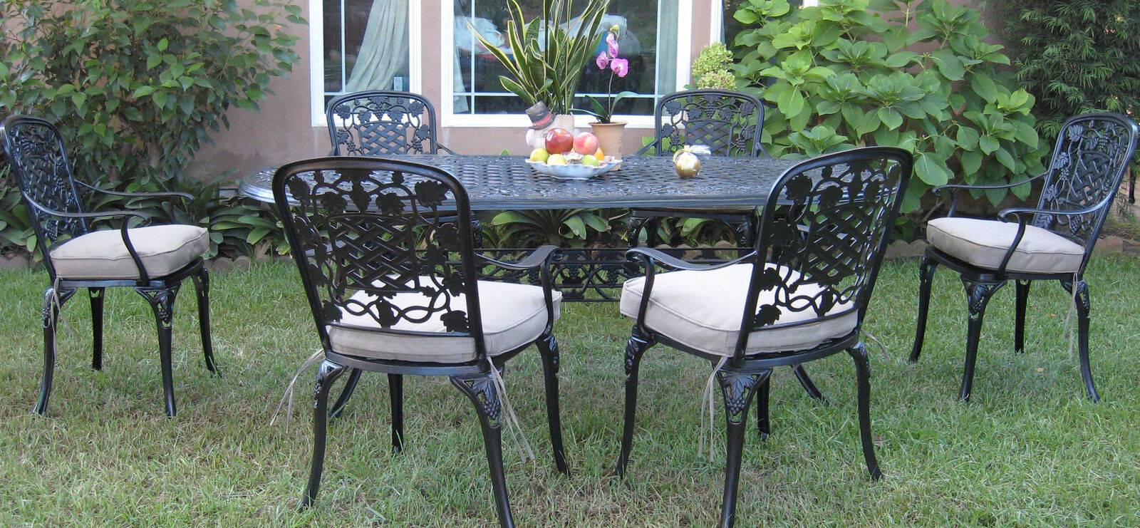 New Cast Aluminum Outdoor Patio 7 Piece Dining Set F With