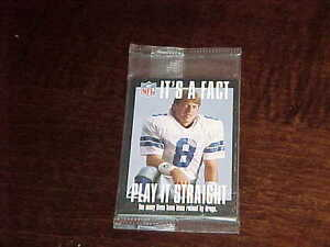 1994-FACT-NFL-Properties-Artex-Football-Set-Sealed-w-Aikman-Marino-Emmitt-Smith