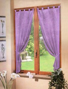Coppia tende lilla viola raso 60x150 tenda finestra - La finestra viola ...