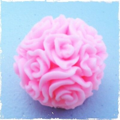 ROSE BALL 3D Sphere Silicone Mould: Soap Candles, Pretty Mold