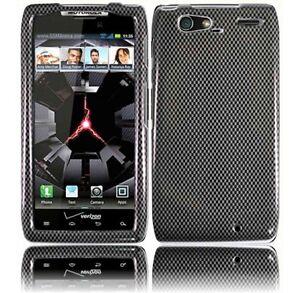 For-Motorola-DROID-RAZR-MAXX-HARD-Case-Snap-On-Phone-Cover-Carbon-Fiber
