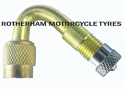 45 DEGREE MOTORBIKE MOTORCYCLE TYRE VALVE EXTENSION ANGLED ADAPTER CAR BIKE VAN