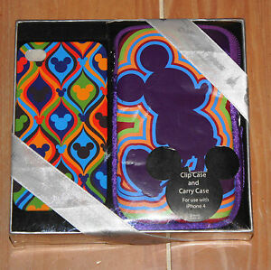 New-Walt-Disney-World-MICKEY-Color-Fusion-iPhone-4-Case-amp-Carry-Case-Set-2-Pc