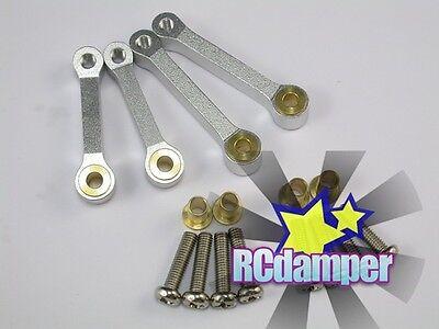 ALUMINUM FRONT & REAR UPPER SUSPENSION ARM S FOR TAMIYA TL01 TL-01 1/10 ALLOY