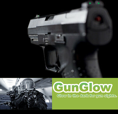 GUN SIGHT SITE PAINT GLOW IN THE DARK PISTOL RIFLE AIR SOFT TARGET - 7 GRAMS