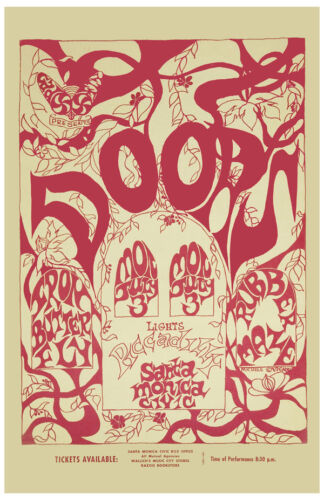 The Doors at Santa Monica Concert Poster 1967 PROMO LARGE 24x36