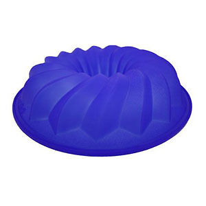 Lekue-Silicone-Bundt-Cake-Pan-Mold-Kitchen-Bakeware-Blue-10-Inch-Made-In-Spain