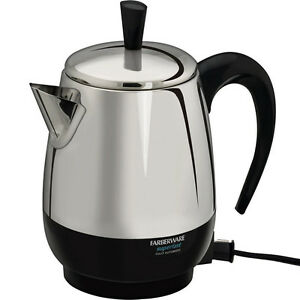Farberware Coffee Maker Cleaning : 4 Cup Stainless Steel Percolator, Farberware Electric Coffee Maker Pot, FCP240