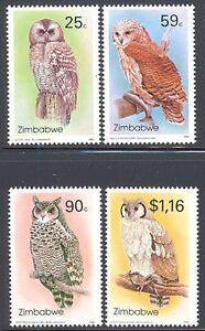 ZIMBABWE-1993-OWLS-2ND-SERIES-SG-850-853-MNH-SET