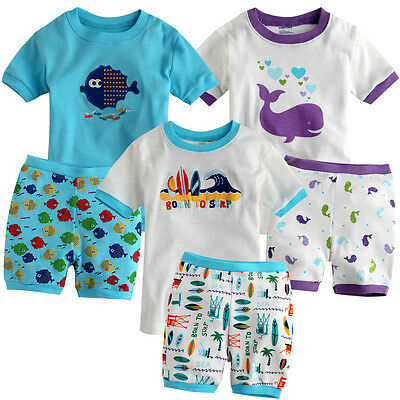 "NWT VaenaitBaby Toddler Boy Girl Short Sleeve Sleepwear Pajama Set ""Sea World"""