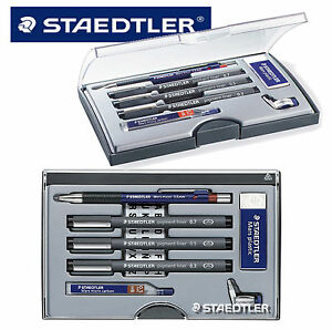 STAEDTLER-TECHNICAL-DRAWING-SET-PIGMENT-FINE-LINERS-PLASTIC-ERASER-MICRO-CARBON